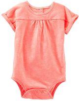 Osh Kosh Baby Girl Shirred Dolman Bodysuit