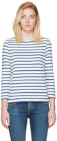 A.P.C. Blue Striped Dream T-shirt