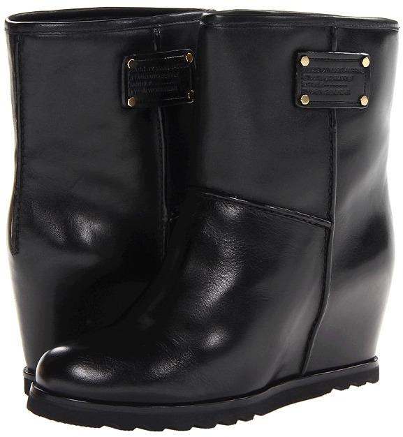 Marc by Marc Jacobs Wedge Bootie (Black) - Footwear