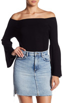 525 America Off Shoulder Tulip Sleeve Blouse