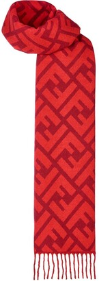 Fendi FF logo long scarf