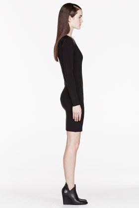 J Brand READY TO WEAR Black Super Fine Merino Sydney Dress
