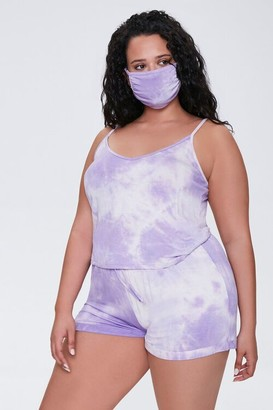 Forever 21 Plus Size Cami Shorts Face Mask Set