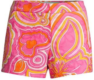 Trina Turk Corbin Paisley-Print Shorts