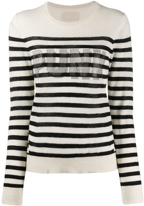 Zadig & Voltaire Stripe Slim Fit Jumper