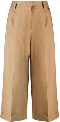 Twin-Set cropped wide-leg trousers
