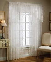 "Petite Fleur Saturday Knight Sheer 56"" x 20"" Ascot Valance"