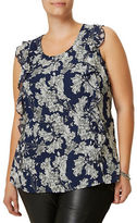 Junarose Plus Elwa Sleeveless Floral Blouse