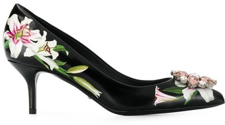 Dolce & Gabbana Lily-print pumps