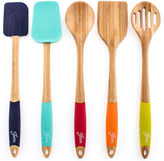 Fiesta 5-pc. Bamboo & Silicone Utensil Set