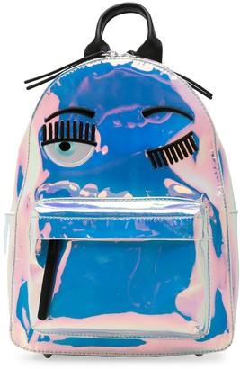 Chiara Ferragni Winking Eye iridescent backpack