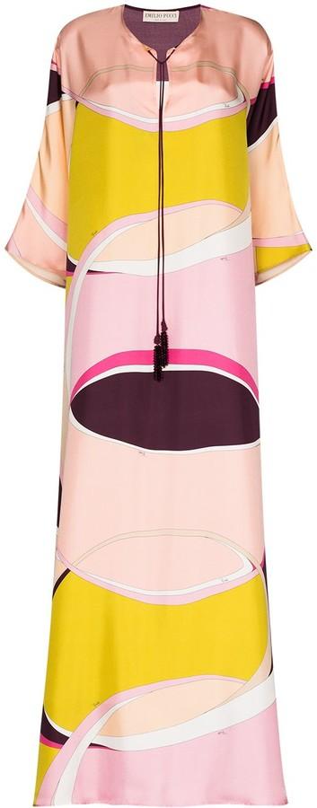 Emilio Pucci x Browns 50 abstract-print maxi dress