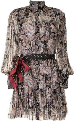 Zimmermann Floral-Print Ruffled Dress