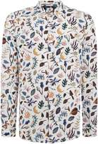 Ps By Paul Smith Tailored Fit Earth Floral Print Shirt