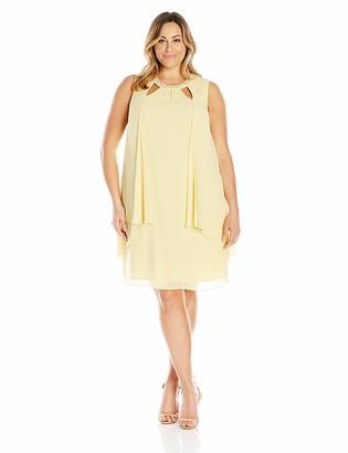 SL Fashions Women's Plus Size Embellished Scoop Neck Sleeveless Dress