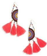Panacea Women's Tassel Embroidered Earrings