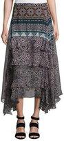 Ella Moss Jacinda Bohemian Tiered Skirt, Black