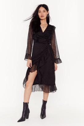 Nasty Gal Womens Leave' Em Starstruck Mesh Midi Dress - Black