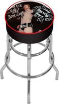 WWE Trademark Shemus Black Padded Swivel Bar Stool