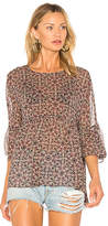 BCBGeneration Ruffle Hem Top In Black Olive in Black. - size L (also in M,S,XS)