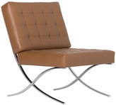 Studio Designs Home Atrium Bonded Leather Barcelona Chair, Caramel