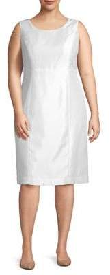 Kasper Plus Sleeveless Sheath Dress