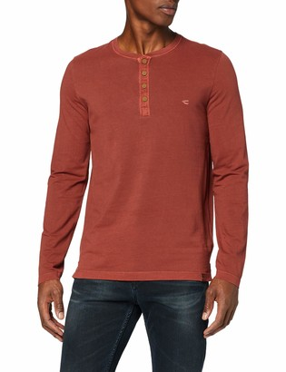 Camel Active Men's Ls Basic Henley Long Sleeve Top
