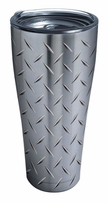 Tervis Diamond Plate Stainless Steel Tumbler with Clear and Black Hammer Lid 30oz