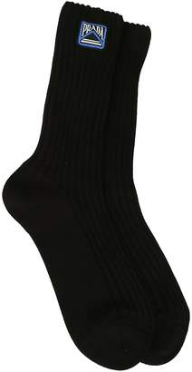Prada Logo Patch Socks