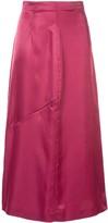 MM6 MAISON MARGIELA high waisted zip detail skirt