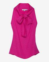 See by Chloe Neck Tie Embossed Silk Sleeveless Blouse