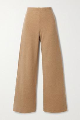 Leset Sierra Wool-blend Wide-leg Pants - Beige
