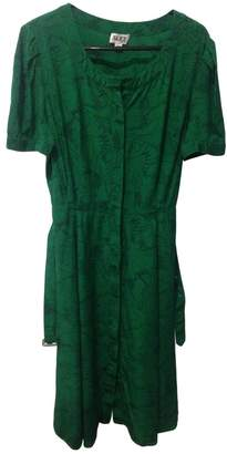 ALICE by Temperley Green Silk Dresses