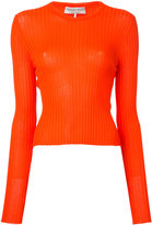 Emilio Pucci knitted fitted top - women - Rayon - M
