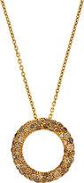 Roberto Coin 18k Brown Diamond Circle Pendant Necklace