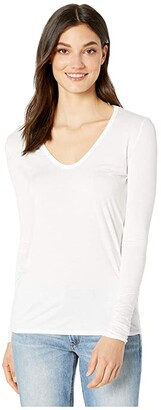 Splendid Madison Long Sleeve Rayon Jersey Scoop Neck Tee