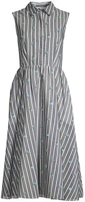 Jason Wu Collection Sleeveless Stripe & Floral Day Dress