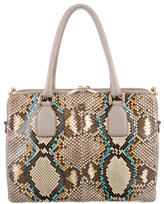 Dolce & Gabbana Multicolor Python & Leather Satchel