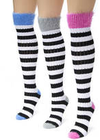 Muk Luks 3-Pack Pointelle Knee High Socks