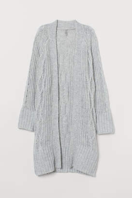 H&M Cable-knit Cardigan - Gray
