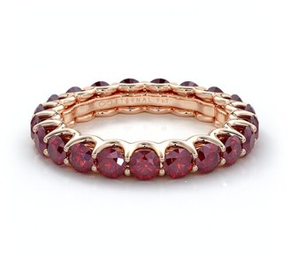 The Eternal Fit 14K Rose Gold 3.10 Ct. Tw. Ruby Eternity Ring