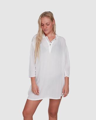 Roxy Womens Ocean Rise Lightweight Hooded Shirt Dress