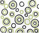 Sweet Jojo Designs Spirodot 36-Inch x 30-Inch Accent Rug in White/Black/Lime