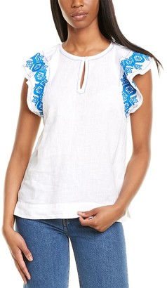 J.Crew Embroidered Linen Top