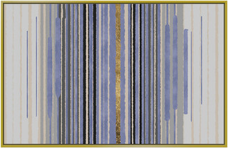 Jonathan Bass Studio Lines Of Blue Gold Leaf
