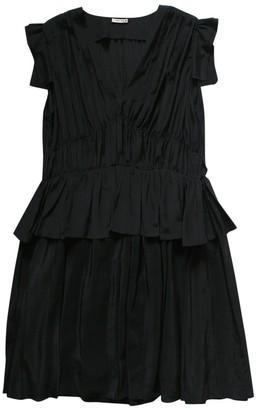 Miu Miu Black Silk Dresses