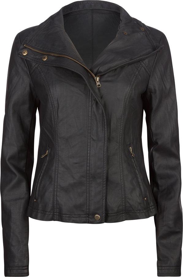 Infamous Ashley Womens Faux Leather Jacket