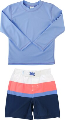 Ruggedbutts Colorblock Two-Piece Rashguard Swimsuit