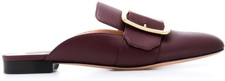 Bally Buckle Detail Slip-On Loafers