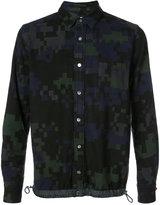 Sacai pixel camouflage shirt